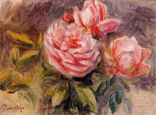 Three Roses, Auguste Renoir