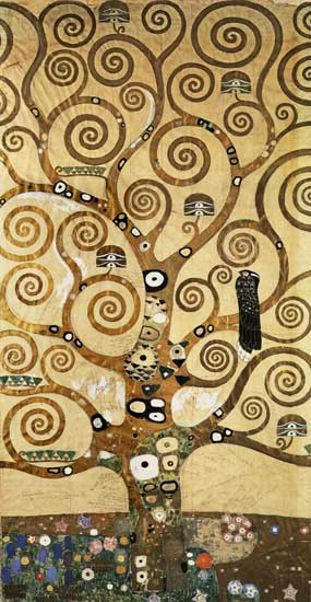 The Tree of Life,Center, Gustav Klimt (15.5X30)