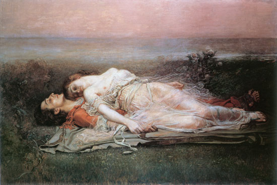 Tristan and Isolde, Egusquiza (16X24)
