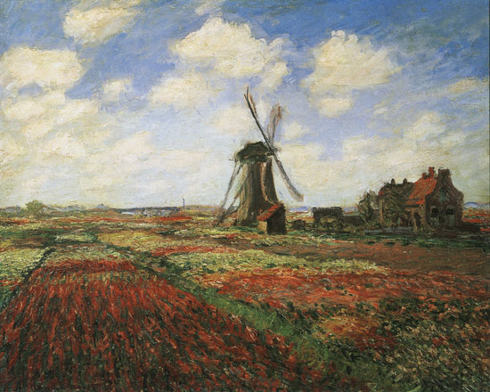 Tulip Fields, Claude Monet (24X30)