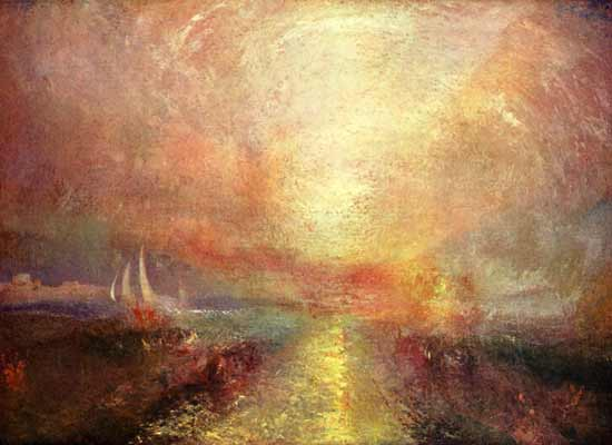 A Sailing Yacht Approaches the Coast, Turner (16X22)
