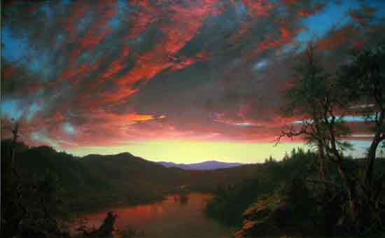Twilight in the Wilderness, Frederic Church (18X29)