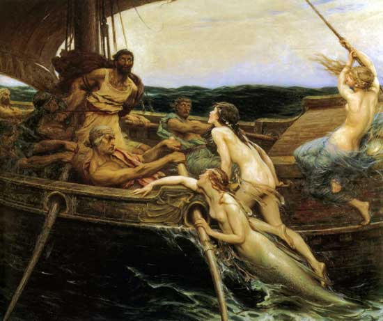 Ulysses and the Sirens, Herbert James Draper