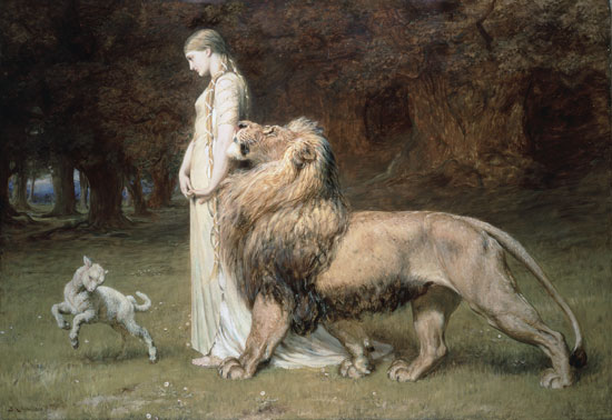 Una and the Lion, Briton Riviere