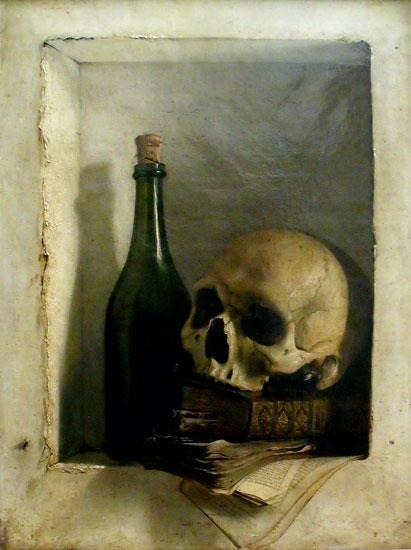 Une Tete de Mort, Antoine Wiertz (16.4X22)