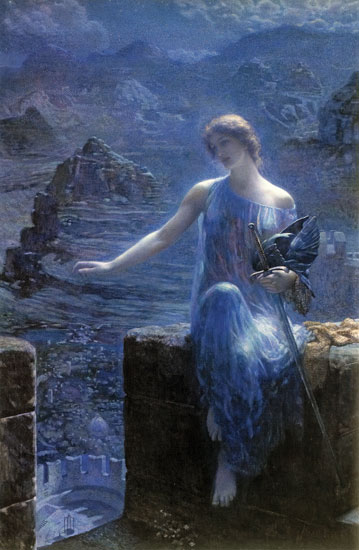 The Valkyrie's Vigil,  Edward Robert Hughes