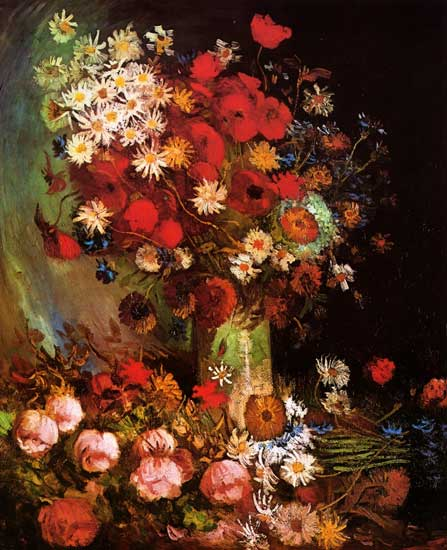 Vase with Poppies, Cornflowers... Van Gogh (20X24)