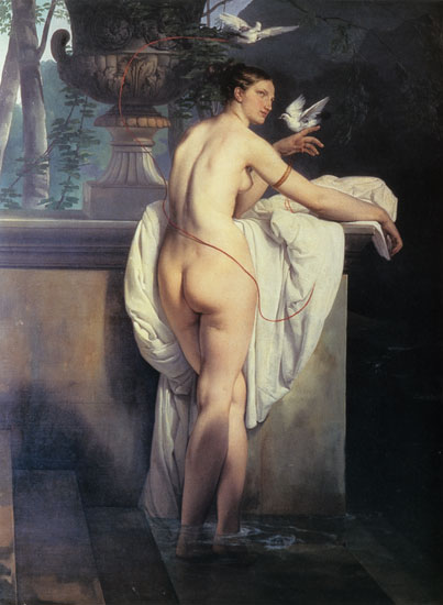 Venus Playing with Two Doves, Hayez (22X30)