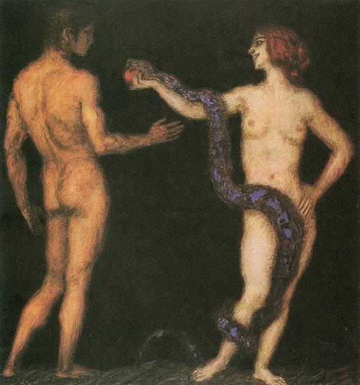 Versuchung, Franz von Stuck (18x19)