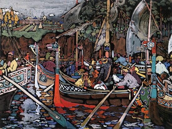 Volga Song,Wassily Kandinsky (16x21.25)