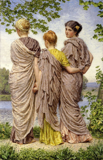 Waiting to Cross, Albert Moore (22x34)