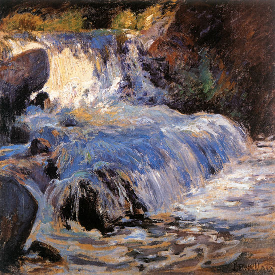 The Waterfall, John Henry Twachtman (22x22)
