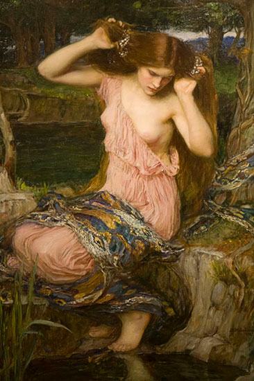 Lamia 1909, John William Waterhouse (16X24)