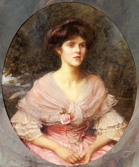 Mrs Alex Henderson, Waterhouse (18.4x22)