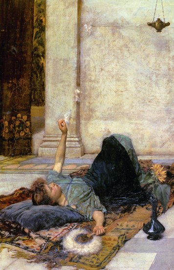The White Feather Fan, Waterhouse (22x34)