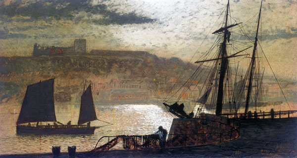 Whitby Harbor, Grimshaw (16X30)