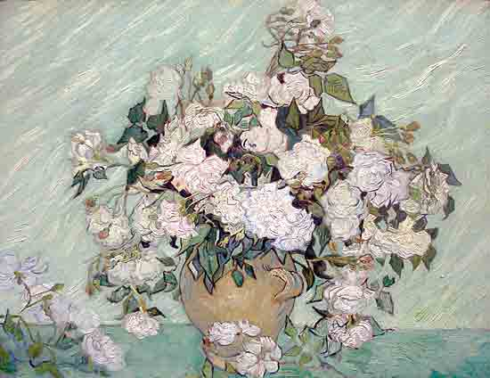 White Roses, Vincent van Gogh