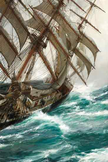 Wind in the Riggings,  Montague Dawson