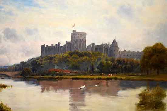 Windsor Castle from the Thames Alfred de Breanski