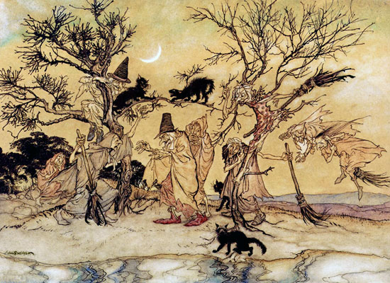 The Witches Sabbat,  Arthur Rackham