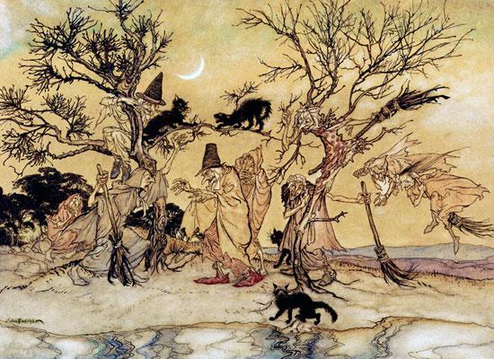 The Witches Sabbat, Arthur Rackham (16X22)