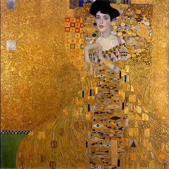 Woman in Gold - Portrait of Adele Bloch-Bauer, Klimt 22X22