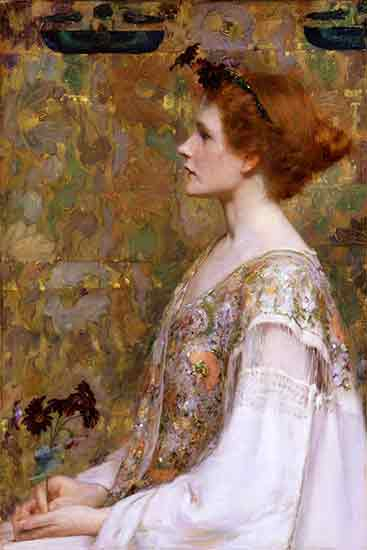 The Woman with Red Hair, Albert Herter