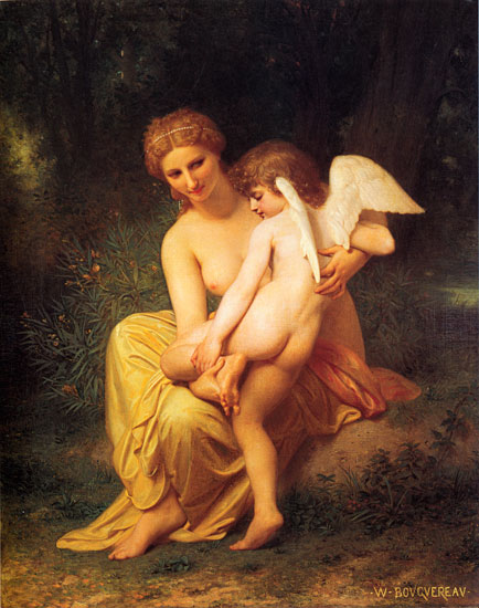 Wounded Cupid, William-Adolphe Bouguereau (17.3X22)