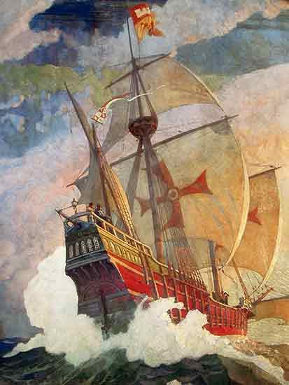 The Caravels of Columbus N. C. Wyeth