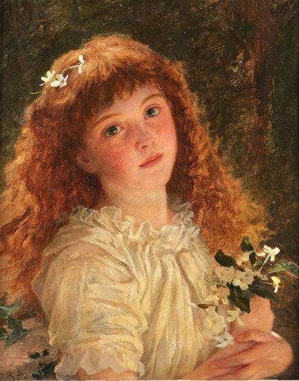 Young Flower Girl, Sophie Anderson