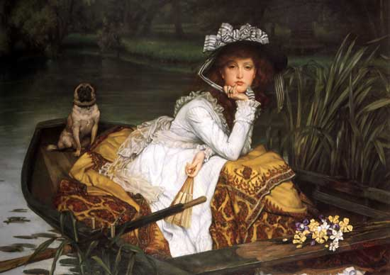 Young Girl in a Boat, Tissot (24X34)