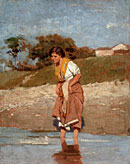 Young Girl Standing in the Water