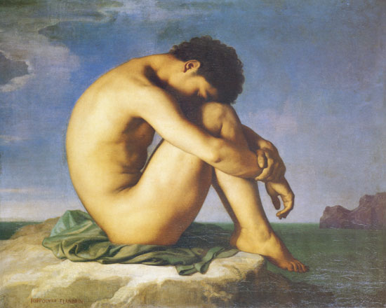 Young Man Nude, Flandrin, (16X20)