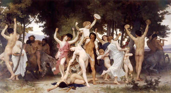 Youth of Bacchus, Bouguereau (16X29.25)