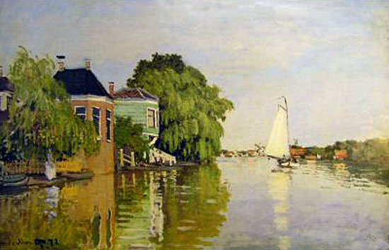 Landscape near Zaandam, Monet (16X25)