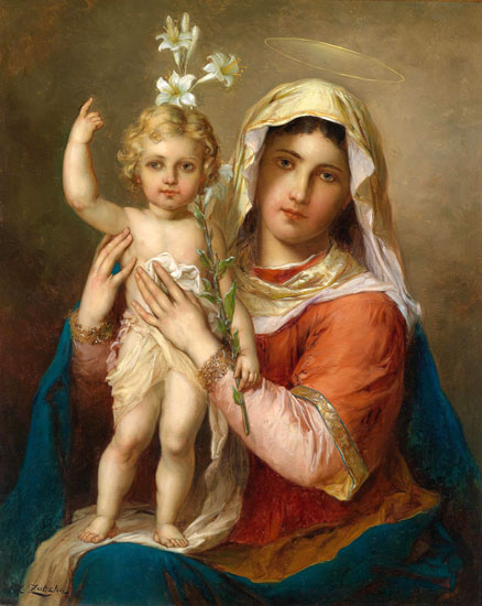 Madonna and Child, Hans Zatzka