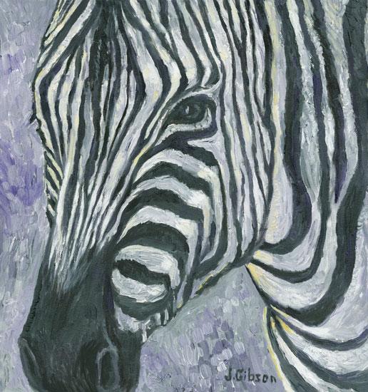 Zebra, Joyce Gibson (15X16)