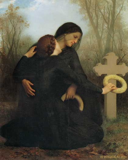All Saints Day, Bouguereau (16X20)