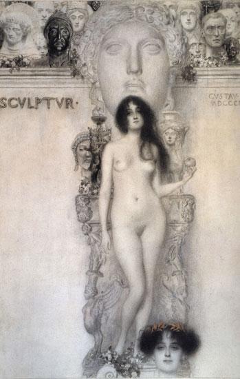 Allegory of Sculpture, Gustav Klimt (21.6X34)
