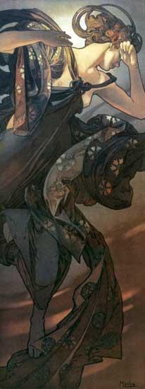 Evening Star, Alphonse Mucha