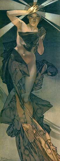Morning Star, Mucha, (12X32)
