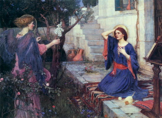 The Annunciation, John William Waterhouse