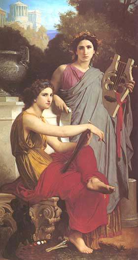 Art and Literature, Bouguereau, (16X30)