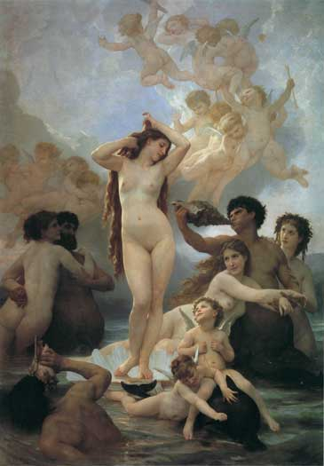 The Birth of Venus, Bouguereau (16X23)
