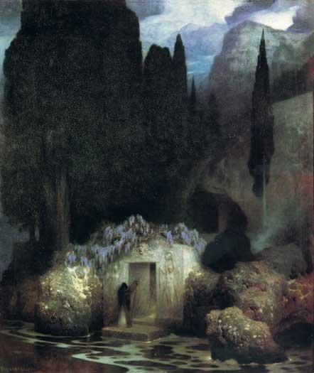 Bocklin's Tomb, Keller (16X19)