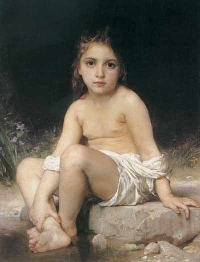 Child at Bath, Bouguereau