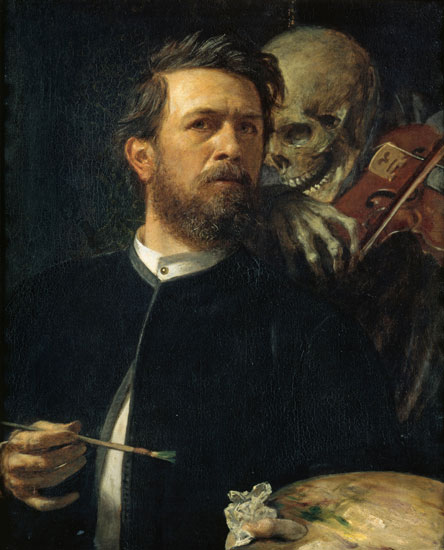 Death w. a Violin, Bocklin (16X20)