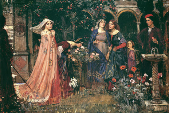 The Enchanted Garden, John William Waterhouse Print on canvas
