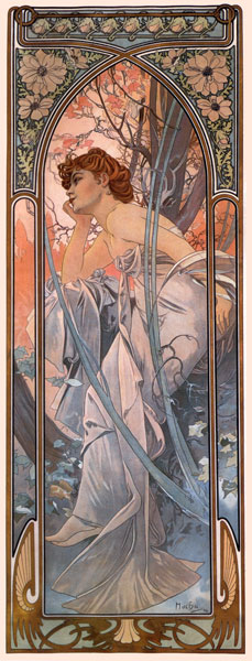 Evening Reverie, Alphonse Mucha