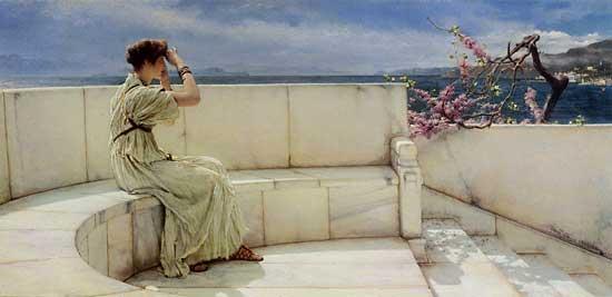 Expectations, Alma-Tadema (16X33)